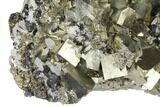 "8.8"" Cubic Pyrite, Sphalerite & Quartz Crystal Association - Peru - #133015-1"